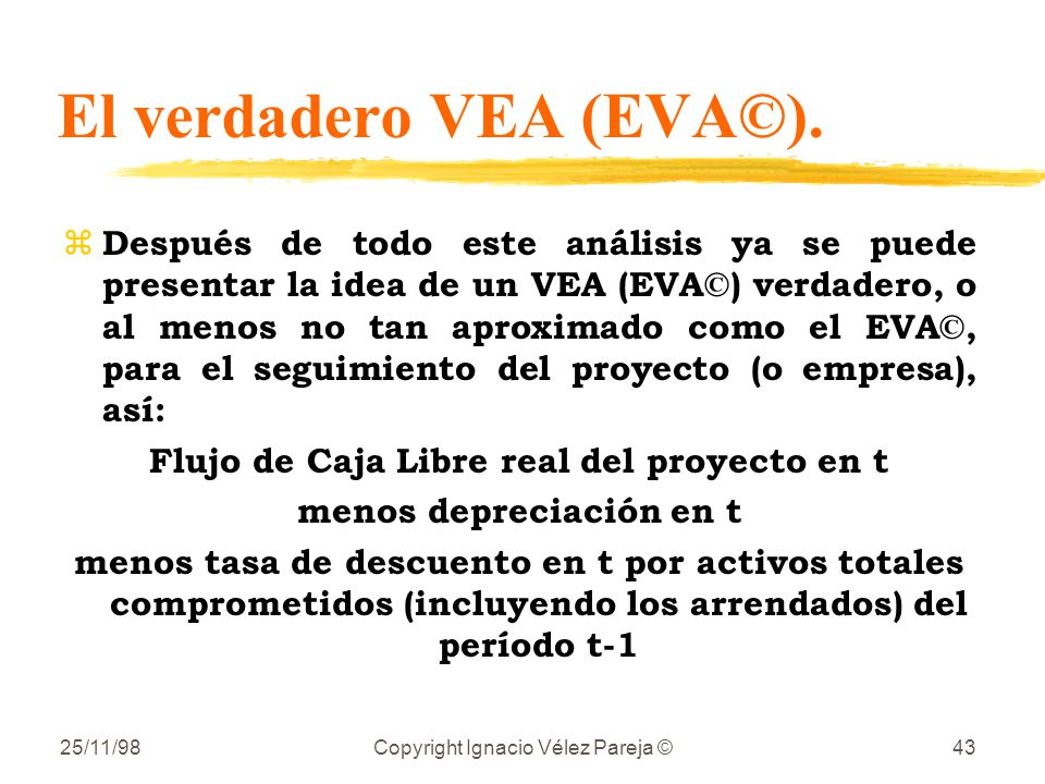 El verdadero VEA (EVA©).