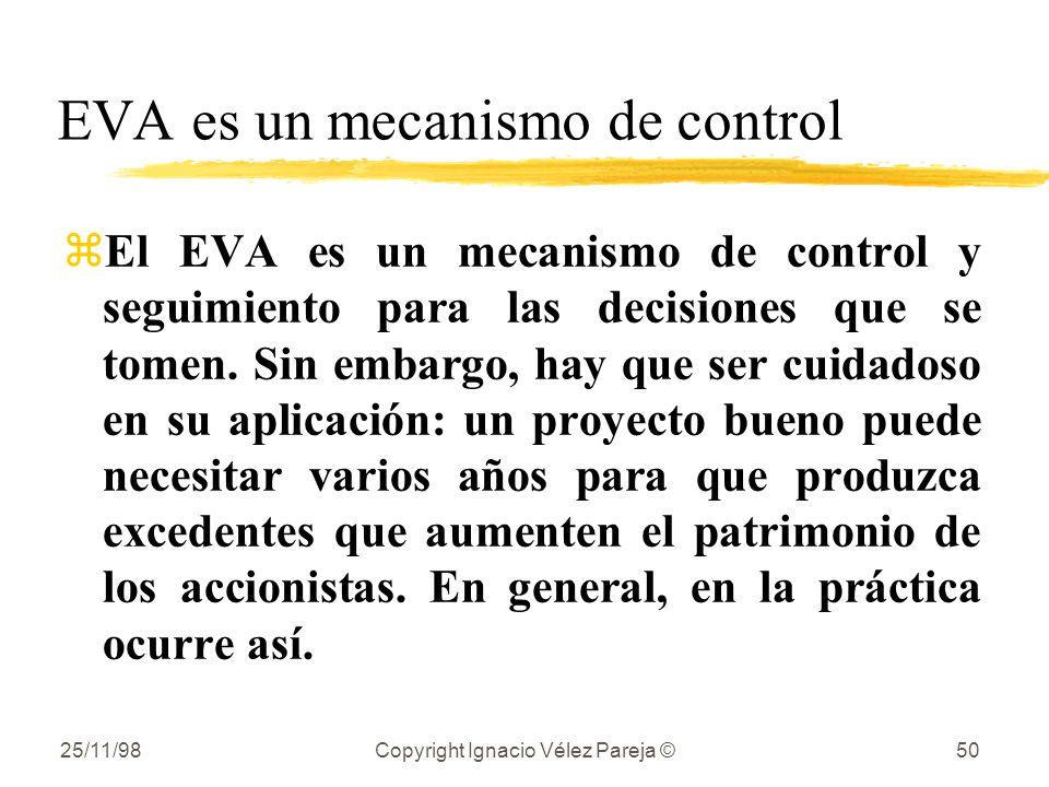 EVA es un mecanismo de control