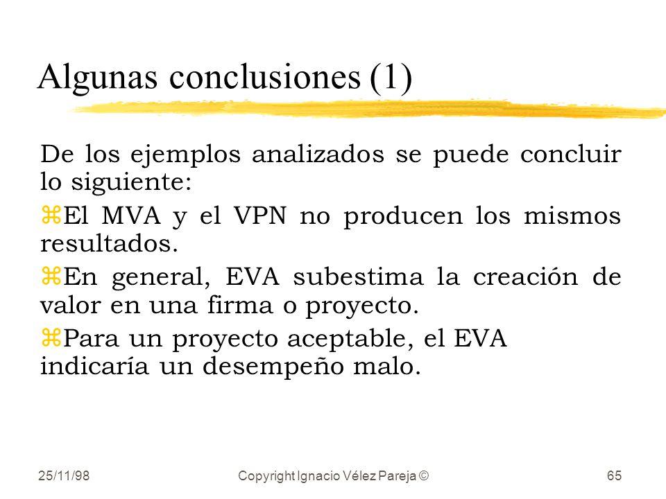 Algunas conclusiones (1)