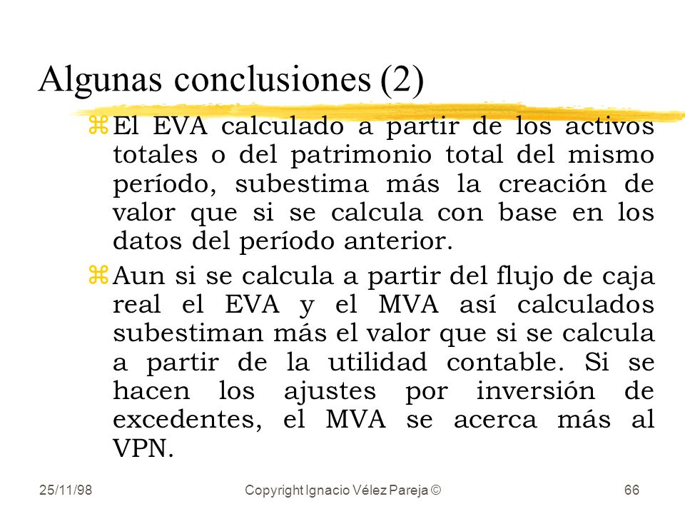 Algunas conclusiones (2)