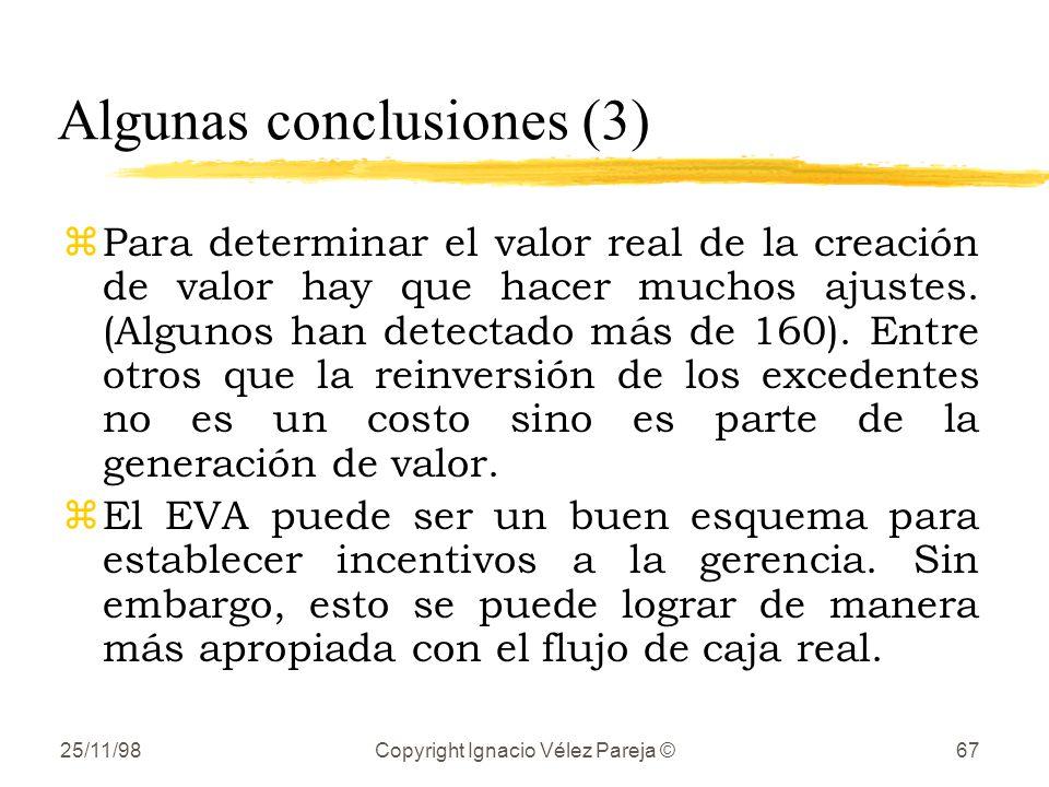 Algunas conclusiones (3)
