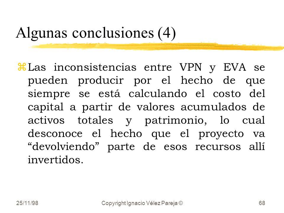 Algunas conclusiones (4)