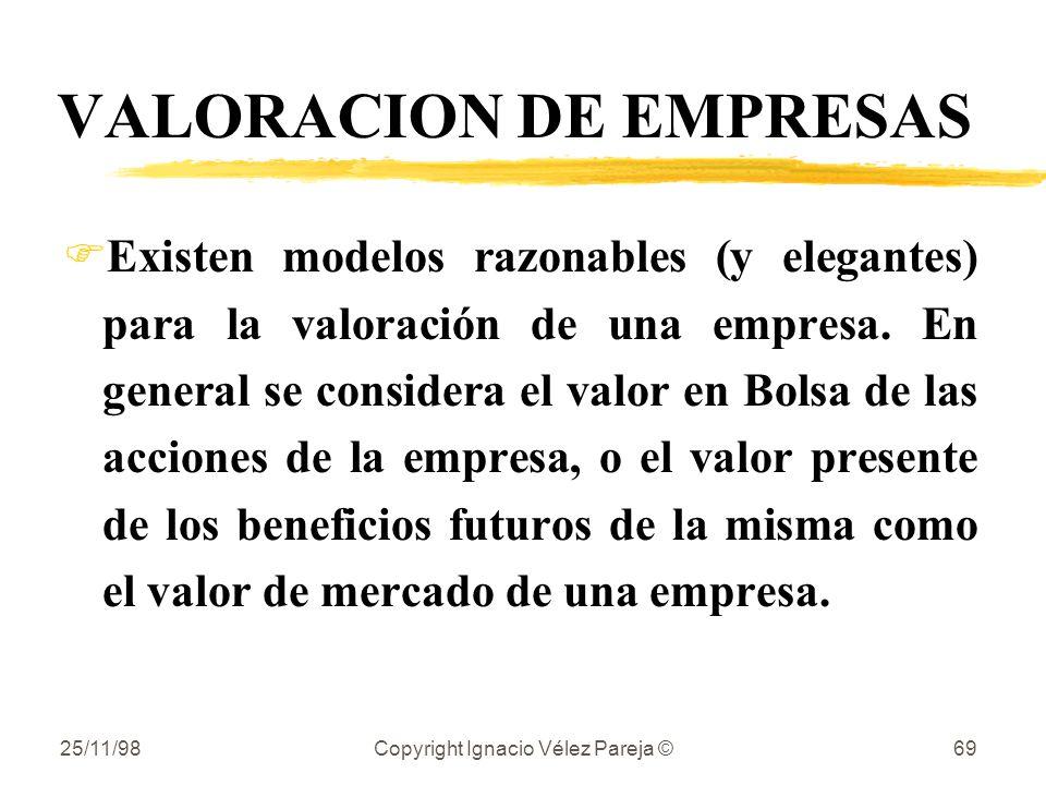 VALORACION DE EMPRESAS