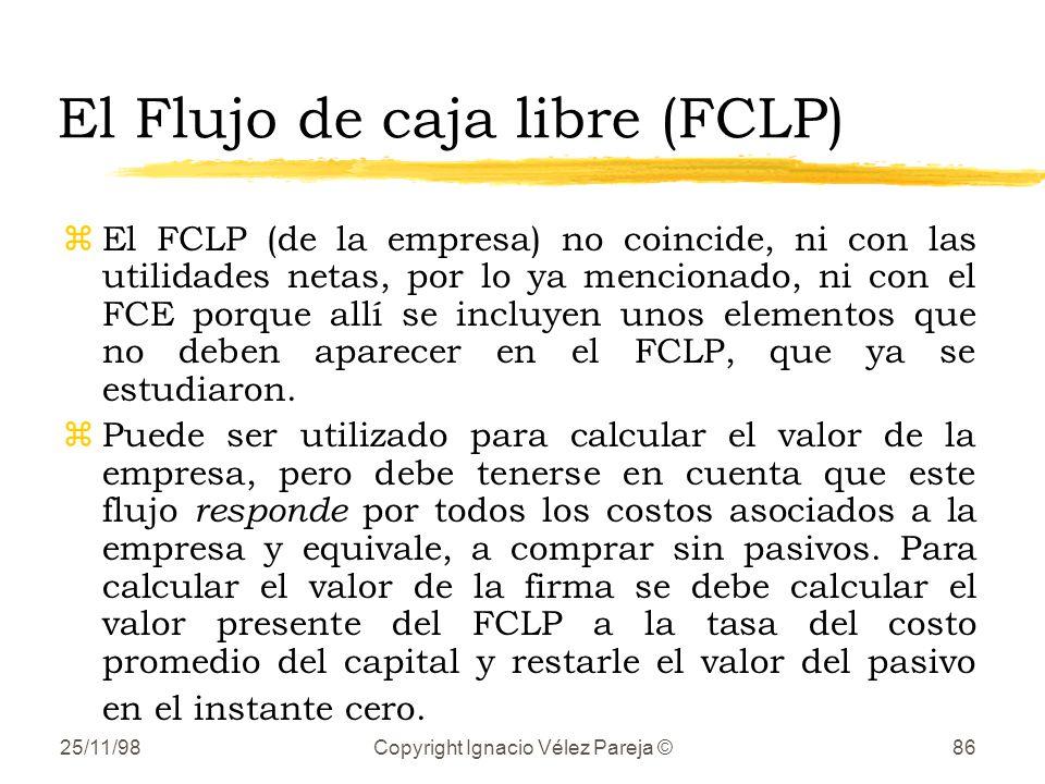 El Flujo de caja libre (FCLP)
