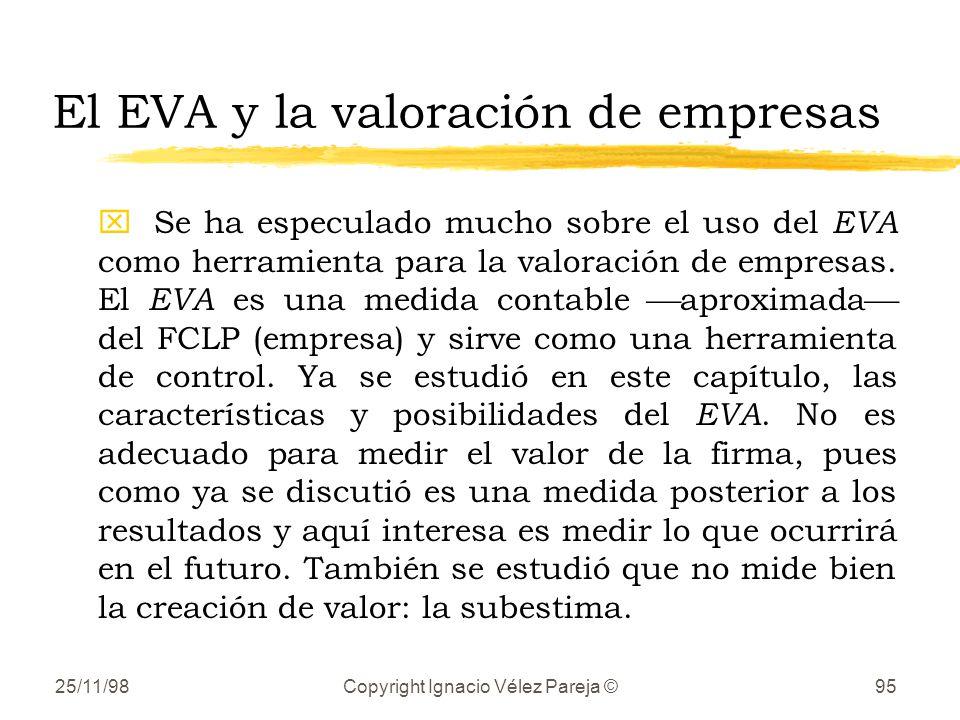 El EVA y la valoración de empresas