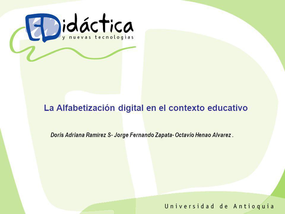 La Alfabetización digital en el contexto educativo