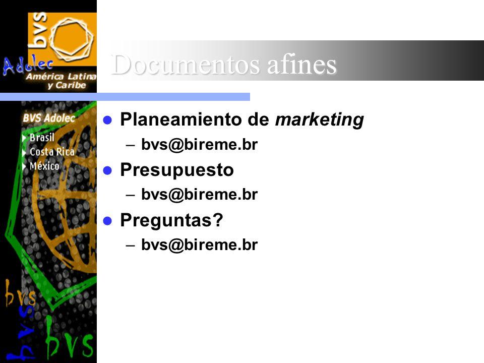 Documentos afines Planeamiento de marketing Presupuesto Preguntas