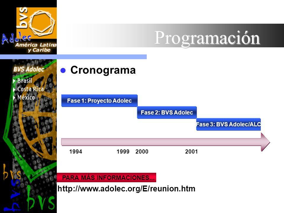 Programación Cronograma http://www.adolec.org/E/reunion.htm