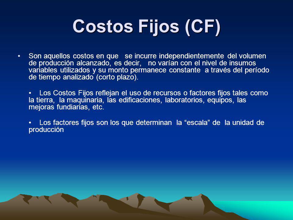 Costos Fijos (CF)