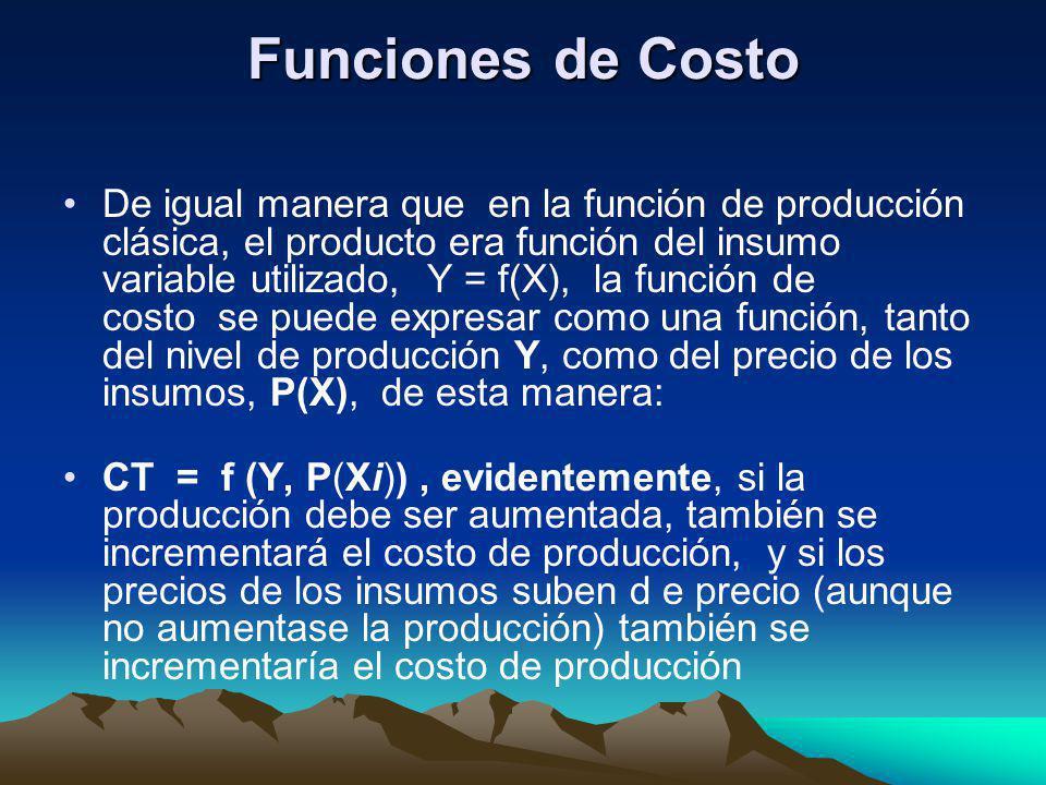 Funciones de Costo