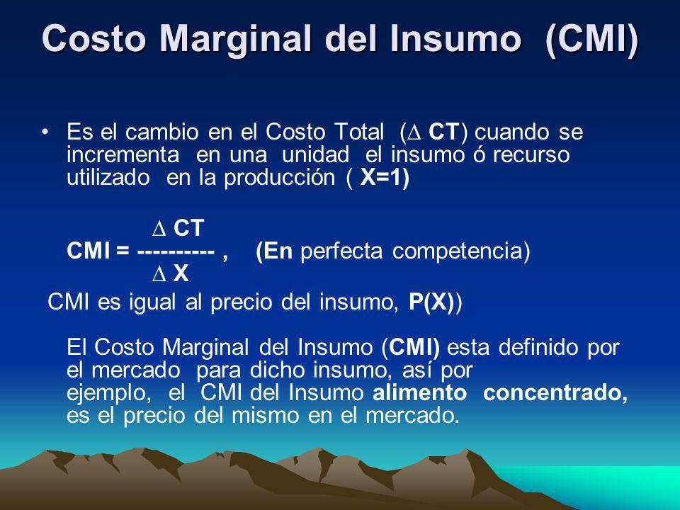 Costo Marginal del Insumo (CMI)