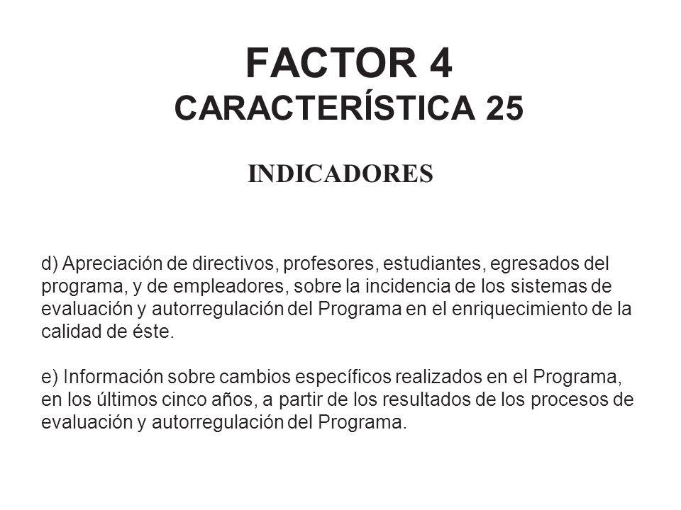 FACTOR 4 CARACTERÍSTICA 25
