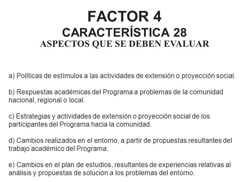 FACTOR 4 CARACTERÍSTICA 28