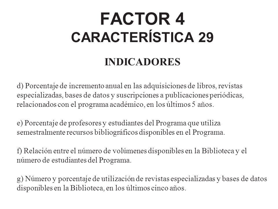 FACTOR 4 CARACTERÍSTICA 29
