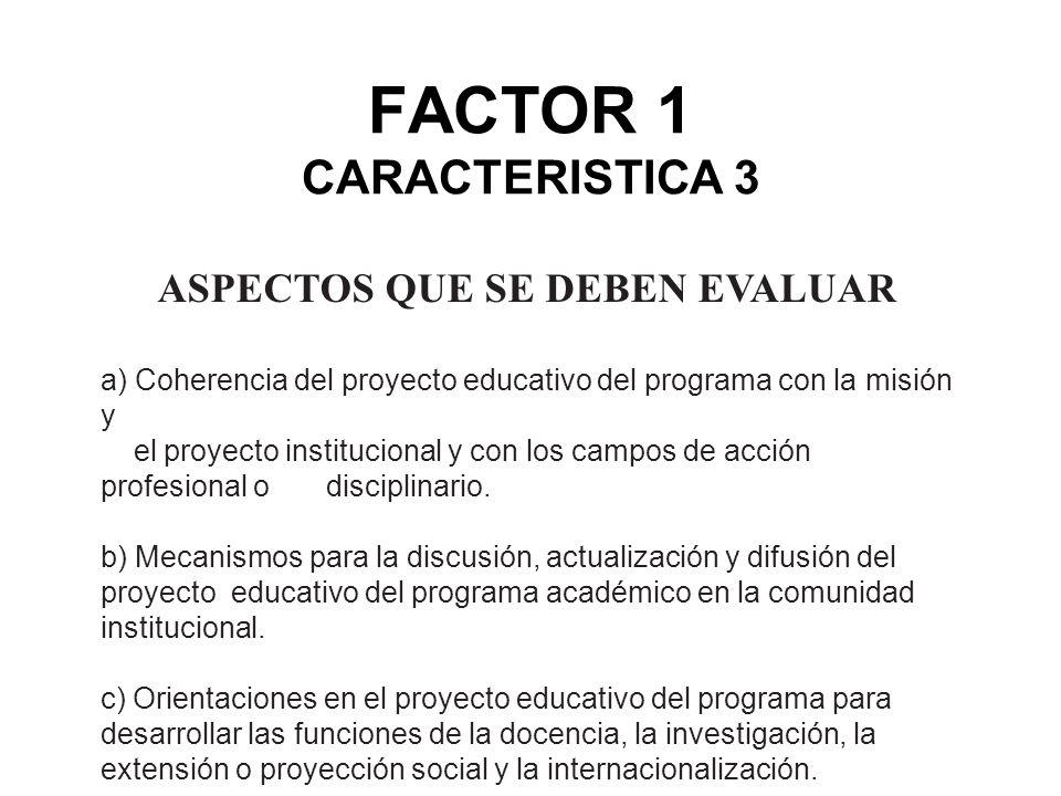 FACTOR 1 CARACTERISTICA 3