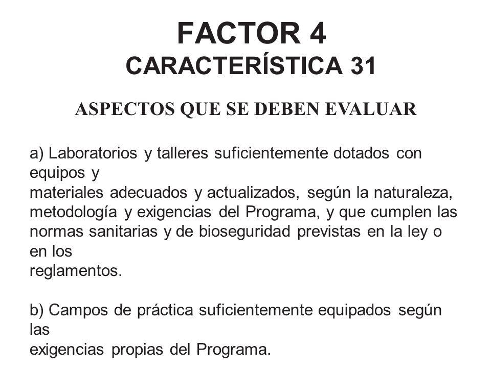 FACTOR 4 CARACTERÍSTICA 31