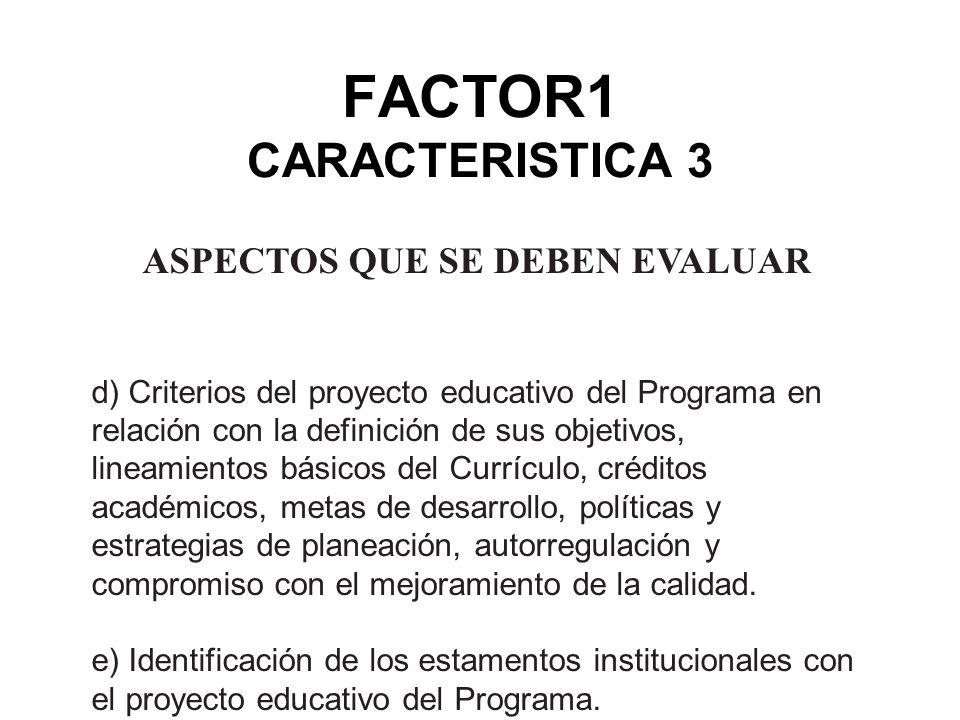 FACTOR1 CARACTERISTICA 3