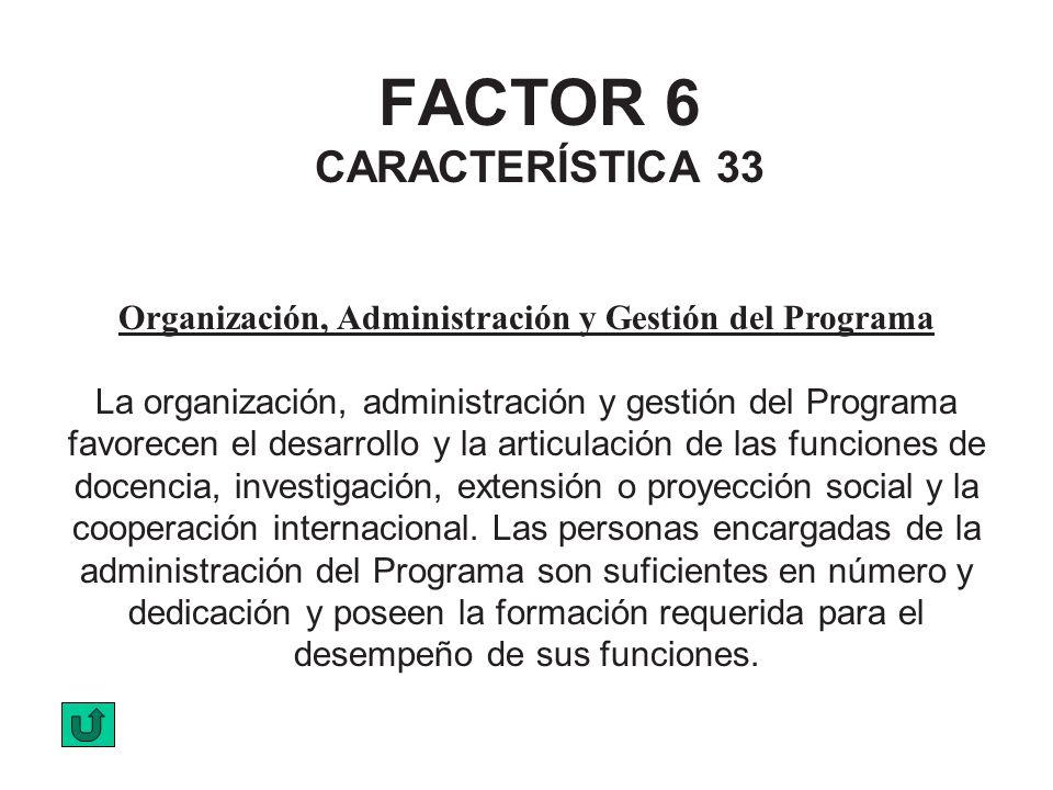 FACTOR 6 CARACTERÍSTICA 33