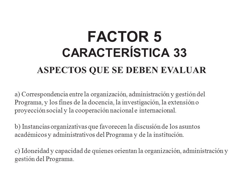 FACTOR 5 CARACTERÍSTICA 33