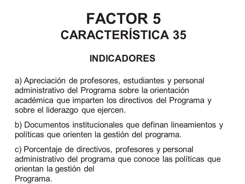 FACTOR 5 CARACTERÍSTICA 35