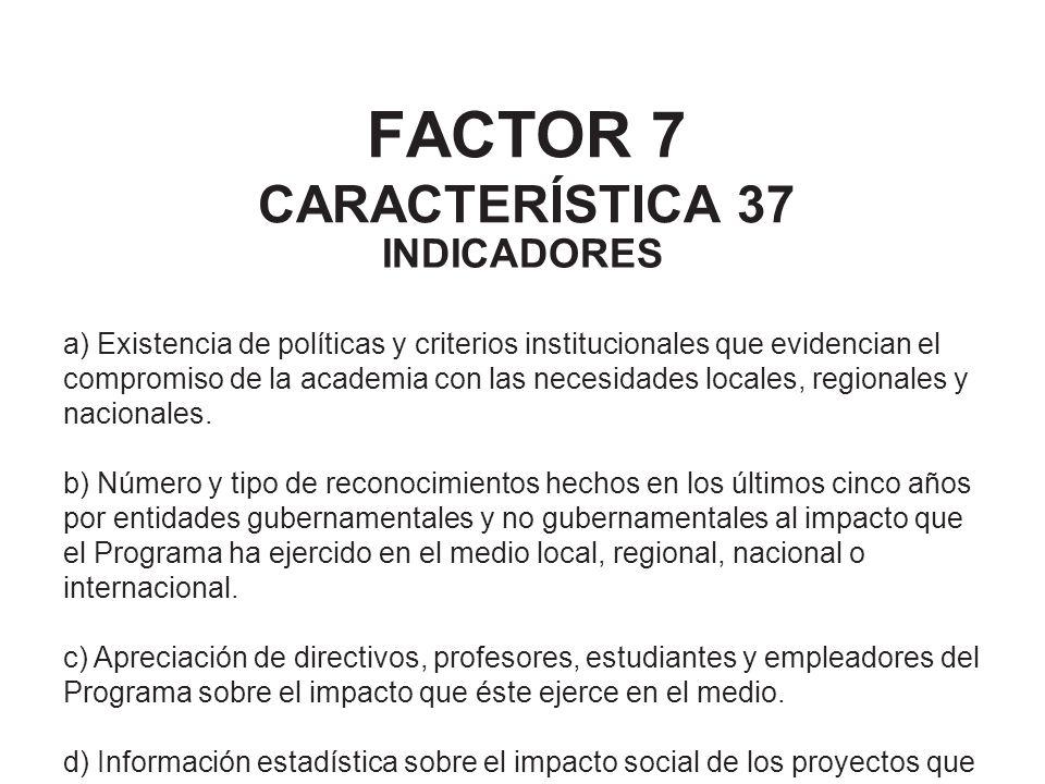 FACTOR 7 CARACTERÍSTICA 37