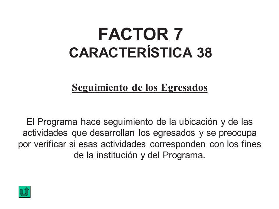 FACTOR 7 CARACTERÍSTICA 38