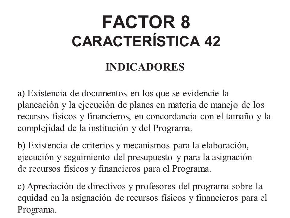 FACTOR 8 CARACTERÍSTICA 42