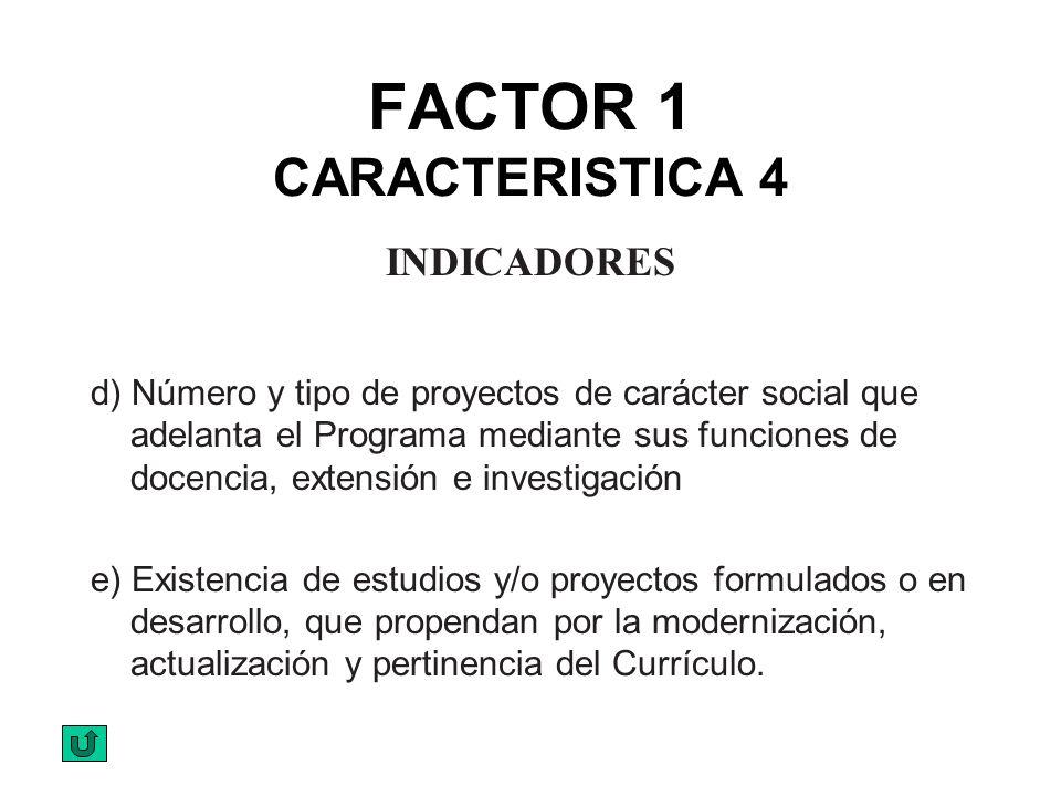 FACTOR 1 CARACTERISTICA 4