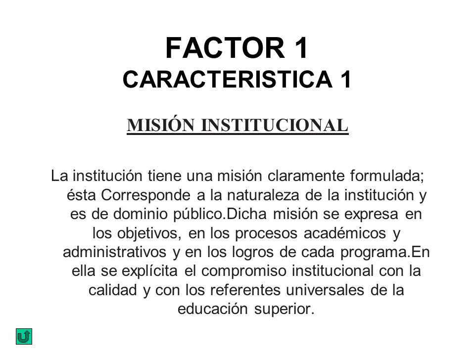FACTOR 1 CARACTERISTICA 1