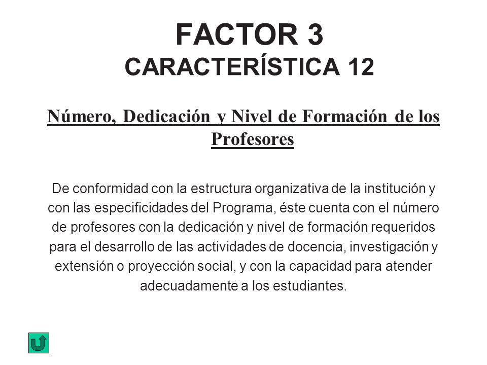FACTOR 3 CARACTERÍSTICA 12
