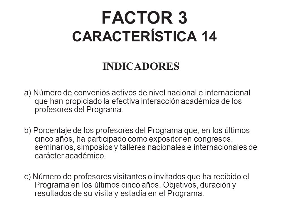 FACTOR 3 CARACTERÍSTICA 14