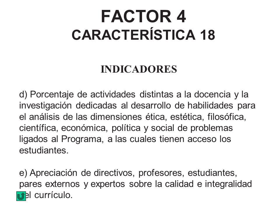 FACTOR 4 CARACTERÍSTICA 18