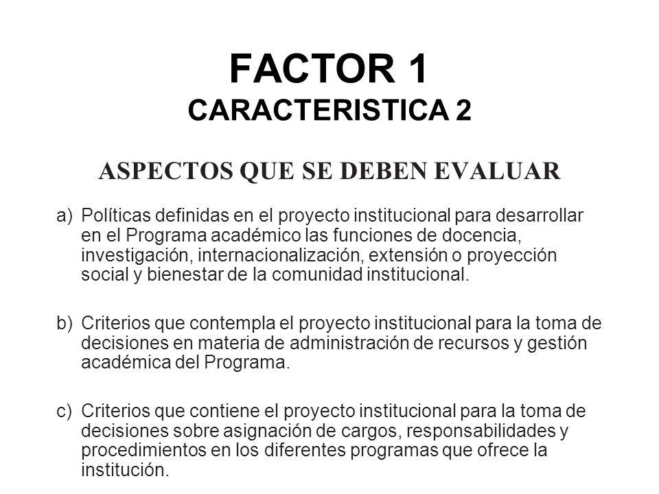 FACTOR 1 CARACTERISTICA 2