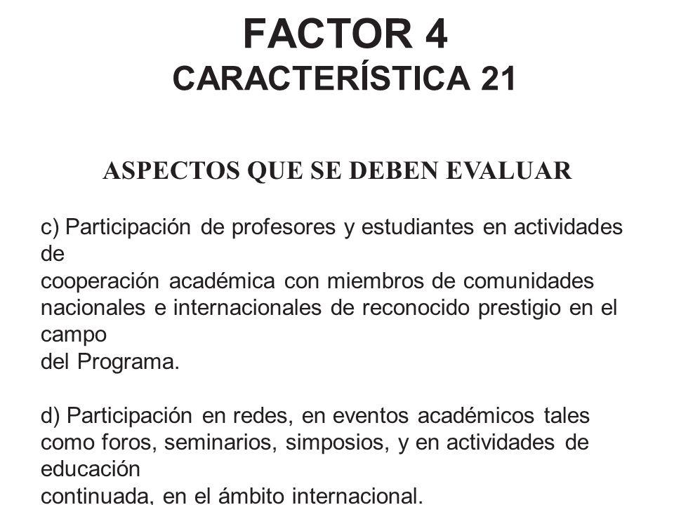 FACTOR 4 CARACTERÍSTICA 21