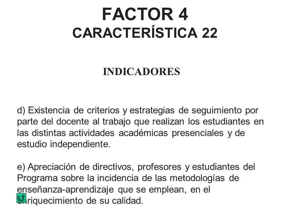 FACTOR 4 CARACTERÍSTICA 22