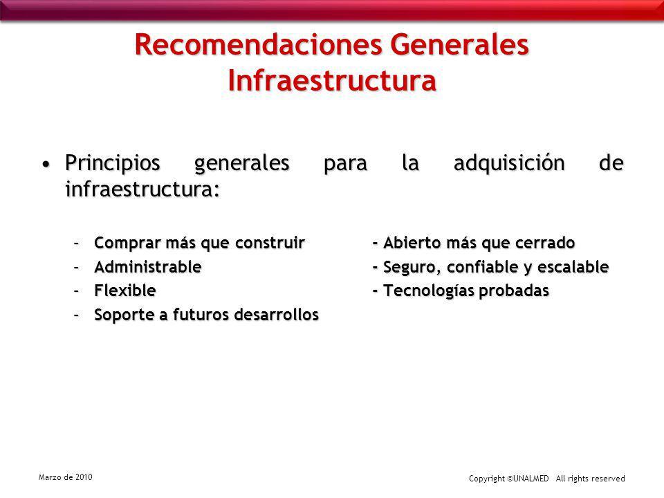 Recomendaciones Generales Infraestructura