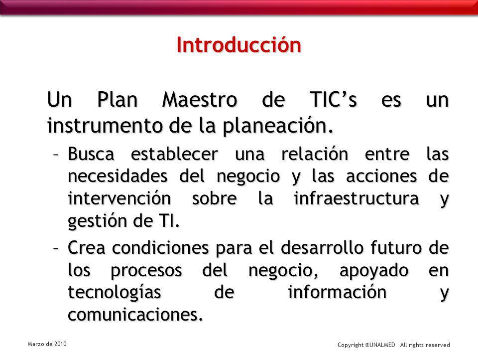 Un Plan Maestro de TIC's es un instrumento de la planeación.