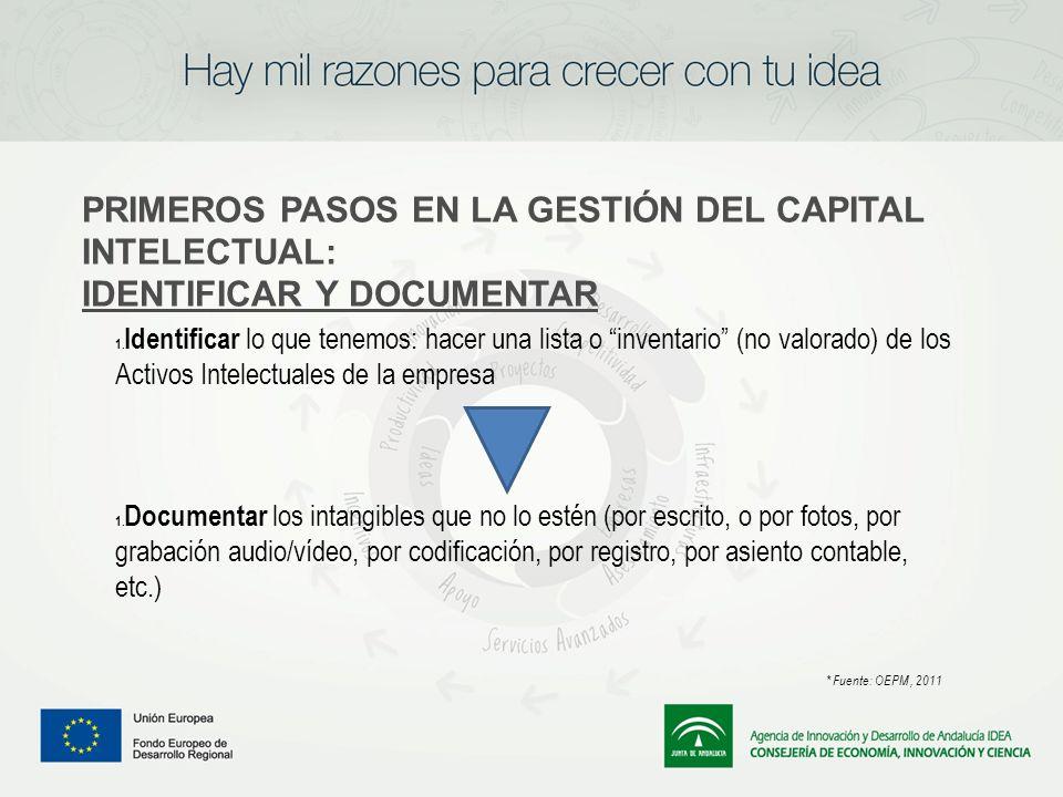 PRIMEROS PASOS EN LA GESTIÓN DEL CAPITAL INTELECTUAL:
