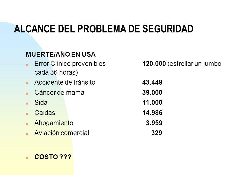 ALCANCE DEL PROBLEMA DE SEGURIDAD