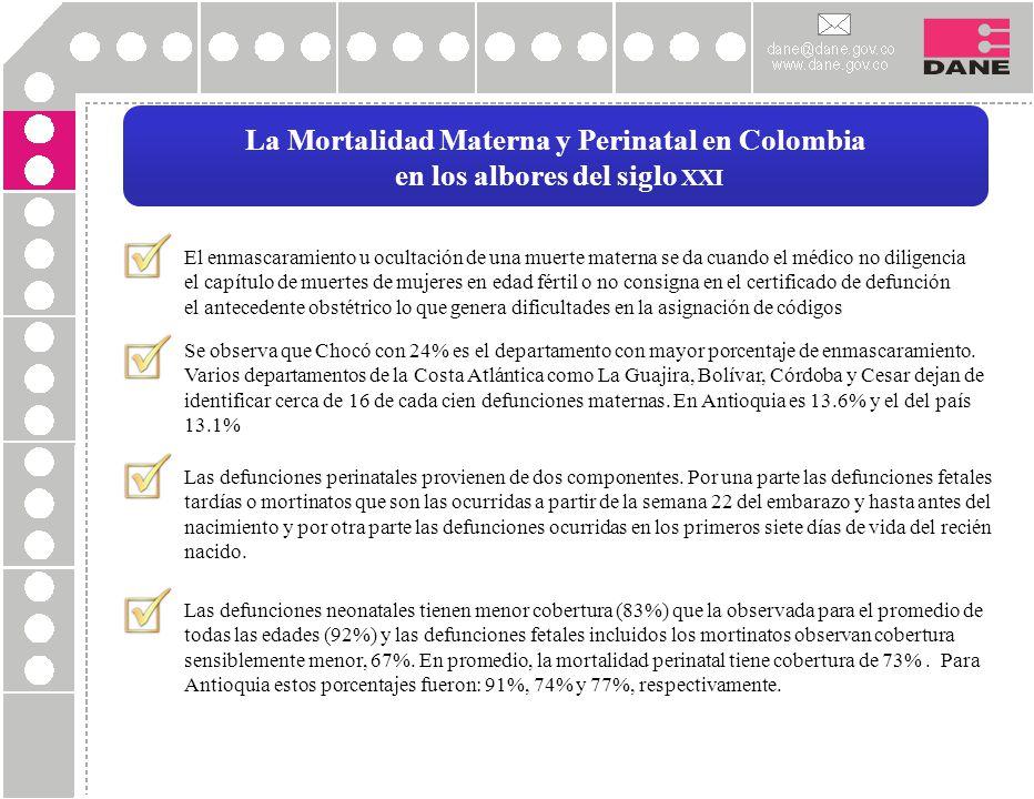 La Mortalidad Materna y Perinatal en Colombia