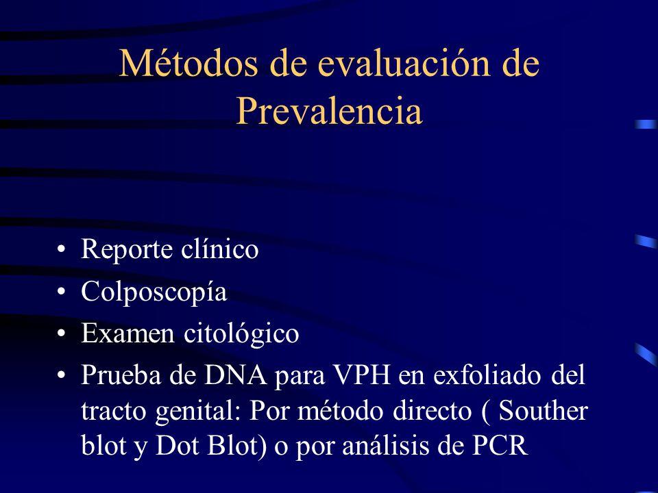 Métodos de evaluación de Prevalencia