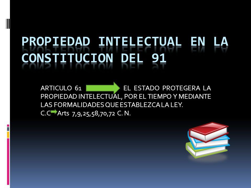 PROPIEDAD INTELECTUAL EN LA CONSTITUCION DEL 91