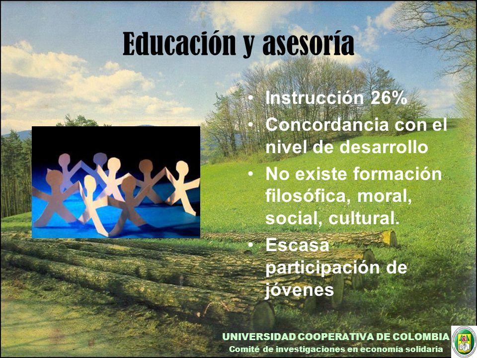 Educación y asesoría Instrucción 26%