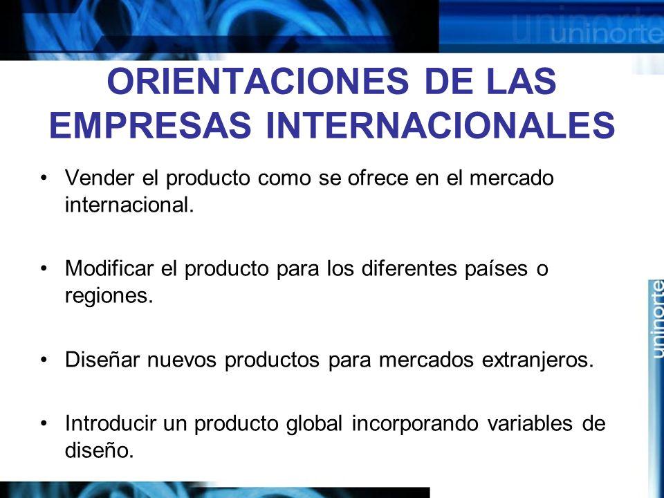 ORIENTACIONES DE LAS EMPRESAS INTERNACIONALES