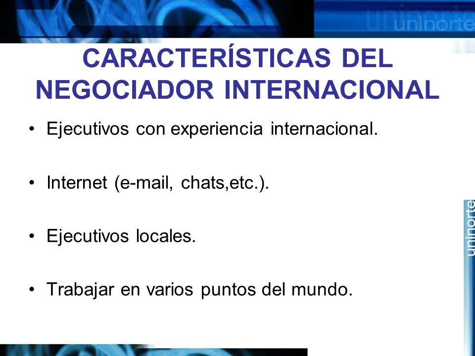 CARACTERÍSTICAS DEL NEGOCIADOR INTERNACIONAL