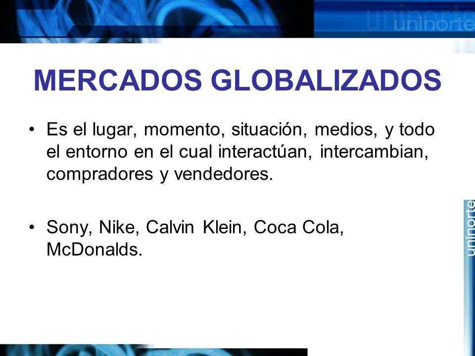 MERCADOS GLOBALIZADOS