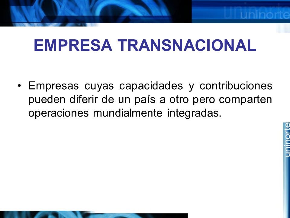 EMPRESA TRANSNACIONAL