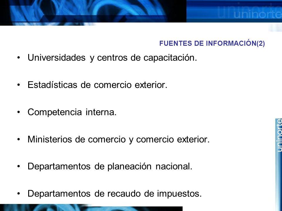 FUENTES DE INFORMACIÓN(2)