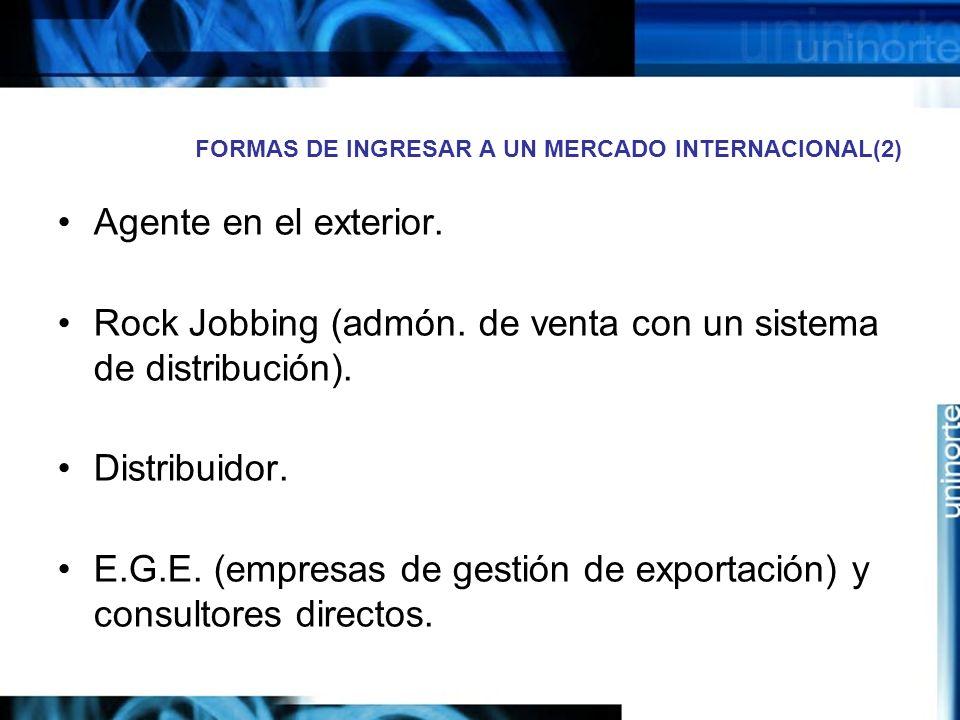 FORMAS DE INGRESAR A UN MERCADO INTERNACIONAL(2)