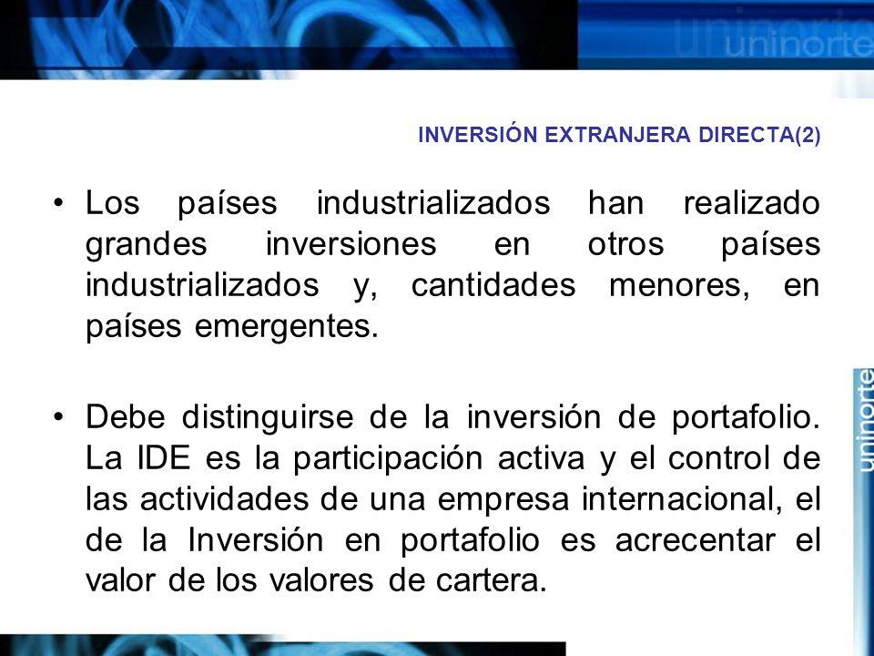INVERSIÓN EXTRANJERA DIRECTA(2)